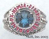 Blue Zircon Dwarven Ring of Power